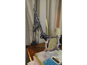 Extendable Arm + Magnifying Glass Holder