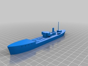 Small steam freighter or barge (1/300 scale)