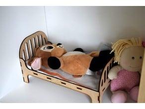 Lasercut doll bed - 3 mm