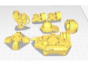 Imperial Knight Magaera Assorted Body Parts + Larger chunks