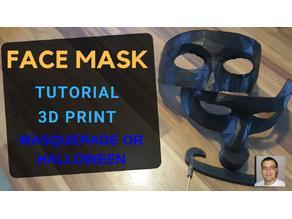 HOMEMADE FACE MASK FOR MASQUERADE OR HALLOWEEN / diy / 3D print / MESHMIXER / FUSION 360 tutorial