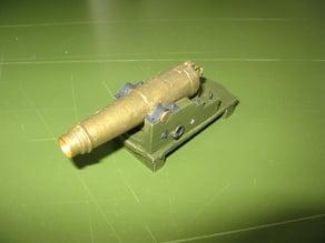 Italian bronce naval cannoncarronade 12pdr c1814 1/12