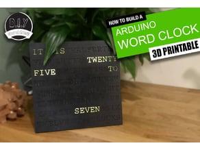 Arduino Word Clock - 3D Printable