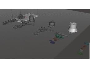 Robotech Inherit the Stars RRT Marduk Refit Fleet Strategy Game pieces