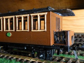 Old railway passenger wagon in scale H0