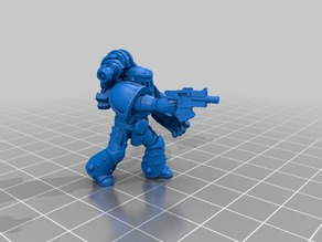 Marine squad leader with fist of power