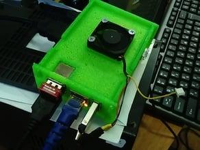 Orange Pi PC case by Agrloki with 30mm Fan mount