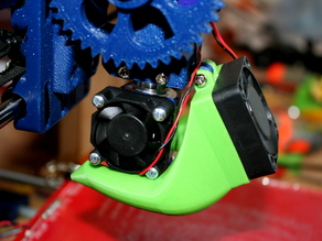 Fan duct for active cooling, supportless, parametized OpenSCAD