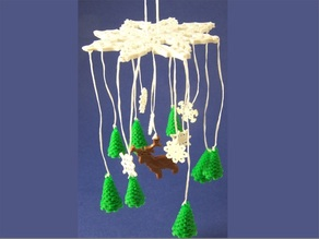 Winter Forest Ornamental Mobile