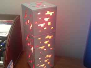 Minecraft redstone ore lamp