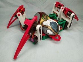 Spider robot(quad robot, quadruped)-MG90