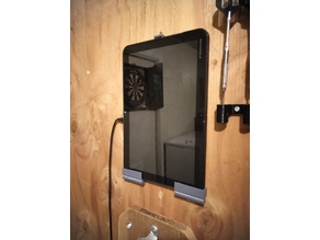 Hinged tablet or phablet wall mount