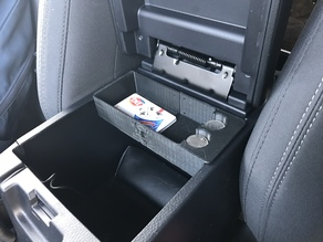 2017 Toyota Tacoma Console Insert Coin Holder Small Bed Printer