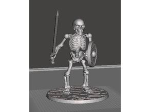 28mm Skeleton Warrior with Sword and Shield