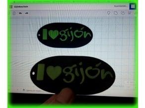 I Love Gijón keychain