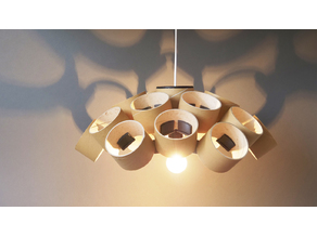 CHANDELIER - PRUSAMENT SPOOL - reuse idea