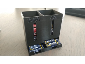 Battery dispenser dual : AAA & AA