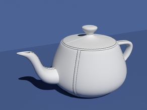 Leather tailored Utah Teapot.