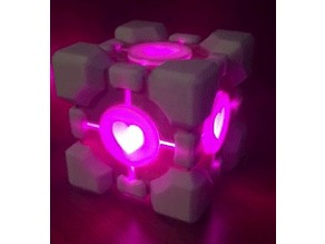 Portal Companion Cube with LEDS