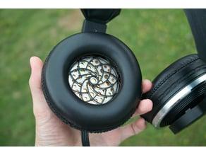 AKG K340 Headphone Fibonacci Grills Mod