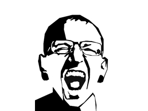 Chester Bennington stencil decorative