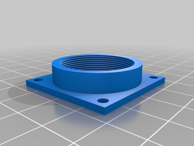 CS lens mount adapter for use with Raspberry PI autoguider