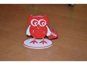 Valentine owl with stend