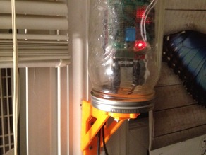 Wide Mouth Ball Mason Jar Wire through