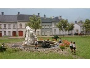 Model making : fountain basin in scale 1:87