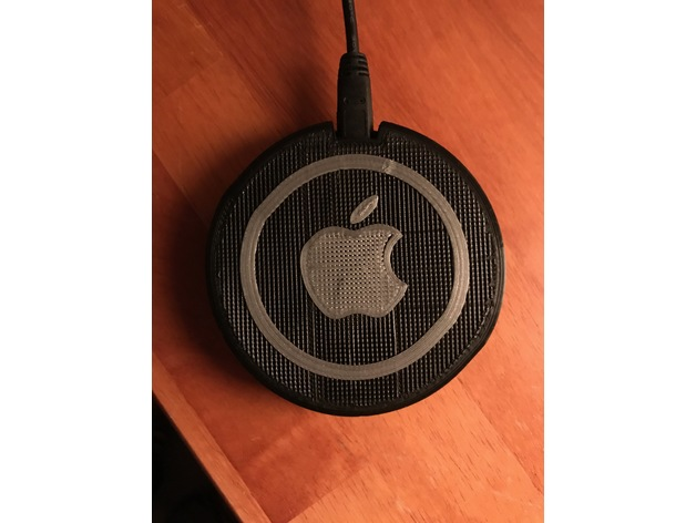 Small Qi charger with Apple Logo by morsm - Thingiverse