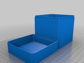 Square box, lid with rounded corners