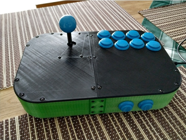 Arcade joystick controller case USB 10 buttons zero delay by