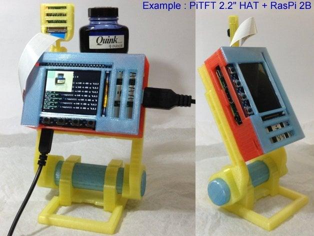 """PiTFT 2.2"""" HAT + Raspberry Pi A+/B+/2B case"""