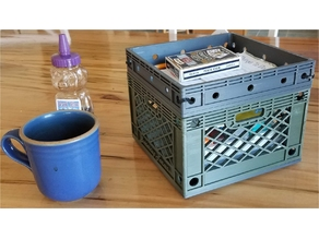 customizable milk crate storage, project box, rasberry pi, beaglebone case
