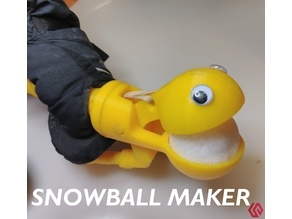 Snowball making device