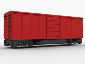 Train Boxcar Assembly - 32mm scale / S-Gauge
