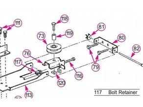 Bolt Retainer for the Garage Door Opener Chain Tensioner