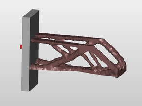 cantilever beam lower edge -Z maximize stiffness