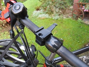 Bike handlebar mount for Garmin eTrex GPS devices