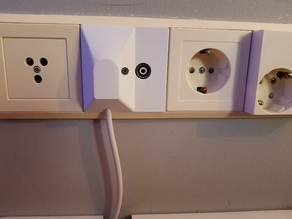 TV antenna wall socket cover (child proof)