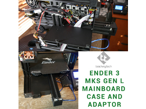 Ender 3 MKS Gen L adaptor case and mount