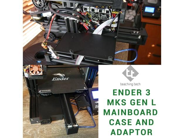 Ender 3 MKS Gen L adaptor case and mount by TeachingTech