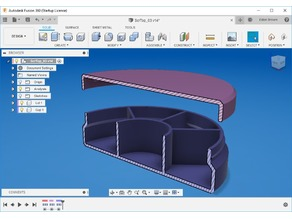 Parametric Screw Top Container - Style 3 - Compartmented