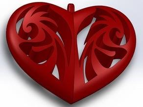 Tribal Heart Pendant