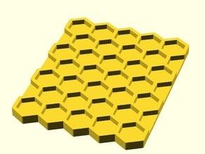 Parametric honeycomb/hexagonal storage