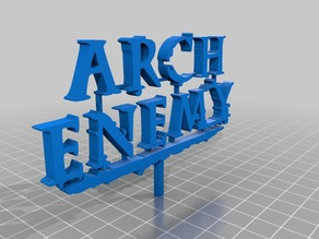 Arch Enemy logo 3D