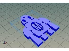 MakerBot 50x40x4mm key chain