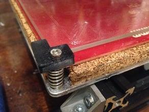 "MakerFarm 8"" 3mm Borosilicate Glass Bed Leveling Corners"