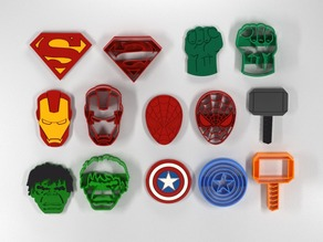 Cookie cutters super-heroes