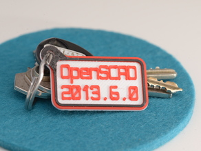 Customizer OpenSCAD Version as Key Chain